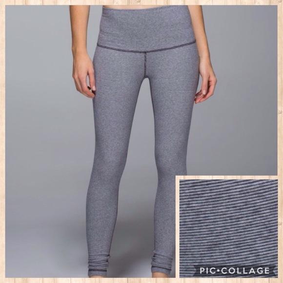 38165bd6a519f lululemon athletica Pants - Lululemon Wunder Under Wee Stripe Cotton  Leggings